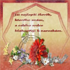 Přání k narozeninám « Rubrika | u Tulky: Happy Birthday Quotes, Wreaths, Blog, Anna, Facebook, Decor, Dekoration, Happy Birthday Wishes Quotes, Decoration