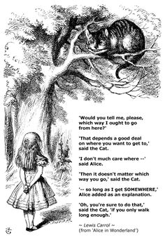 Alice  the Cheshire Cat, Sir John Tenniel. If I ever get another tattoo, this will be it.