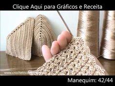 "Como fazer o cropped crochet Top ""Carolina""com bababdos How to do, ruff, Häkeltop, Halter, Oberteil Top Tejidos A Crochet, Crochet Bra, Crochet Crop Top, Crochet Diagram, Crochet Woman, Crochet Clothes, Crochet Stitches, Knitting Patterns, Crochet Patterns"