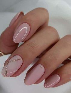 Chic Nails, Classy Nails, Stylish Nails, Simple Nails, Simple Elegant Nails, Fun Nails, Blush Pink Nails, Turqoise Nails, Pink Wedding Nails