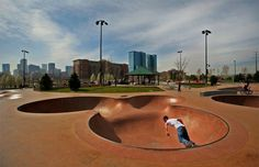 This skate park in Denver, Colorado shows off a modern theme and gives skaters a place to feel at home just outside of the downtown area.