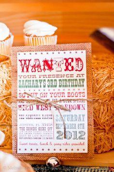 Cowboy western birthday party planning ideas via Kara's Party Ideas - www.KarasPartyIdeas.com