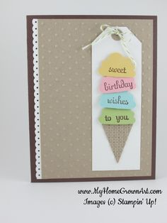 Pink Paper Bakery: Ice Cream Card