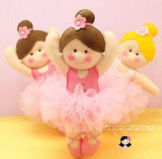 Ei Menina!  Bailarinas de fieltro