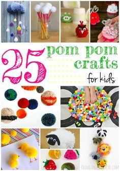 25 Delightful Pom Pom Crafts For Kids