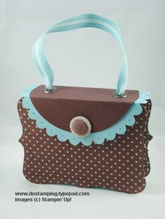 BIG SHOT: Top Note and Scallop Die Purse Box - DOstamping with Dawn, Stampin' Up! Demonstrator