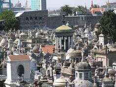 Recoleta Cemetery where Eva Peron is buried