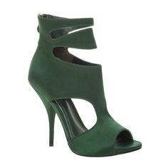 low priced 61944 93d1d Women s Green Euclid2- Cut-Out Peep Toe Satin Booties. Schwarze  AbsatzstiefelHigh Heel ...