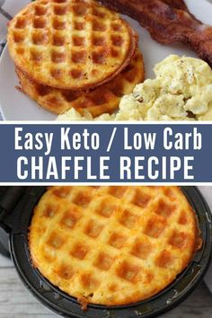 Keto Chaffles are all the rage right now for those on a ketogenic diet. Super low in carbs and easy to make they are the perfect low carb bread alternative. / keto breads / low carb bread / keto bread…More Ketogenic Recipes, Diet Recipes, Slimfast Recipes, Ketogenic Cookbook, Vegetarian Recipes, Juice Recipes, Easy Low Carb Recipes, Smoothie Recipes, Healthy Low Carb Dinners