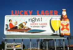 #Lucky #Lager #OOH #History #Billboard