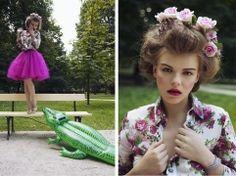 #princess #city #tutu #photoshoot #fashion #pink #floral #color  Księżniczka w wielkim mieście - DaWanda