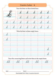 "Cursive ""t"" The letter ""t"" is the letter in the English Alphabet, but this is the letter to be learned in cursive. On this page, you will learn the formation of this. Cursive Writing Worksheets Pdf, Letter Q Worksheets, Cursive Handwriting, Lettering, Printable, English, Kindergarten Classroom, Assessment"