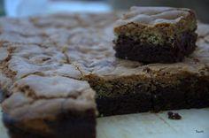 Barrinhas Duplas de Brownie e Cookie com Gotas de Chocolate