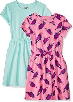 Brand Spotted Zebra Girls 2-pack Knit Ruffle Top Rompers Sleeveless Playwear Dress