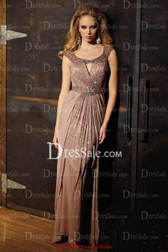 Gorgeous Sheath Mother of the Bride Dress with Lavish Beadings and Sequins