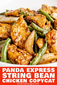 Try this Panda Express String Bean Chicken Breast Copycat Tender chicken and green beans stir fried with a delicious Asian soy ginger garlic sauce String Bean Recipes, Green Bean Recipes, Easy Asian Recipes, Healthy Recipes, Recipes With Ginger, Fast Recipes, Chinese Recipes, Thai Recipes, Restaurant Recipes