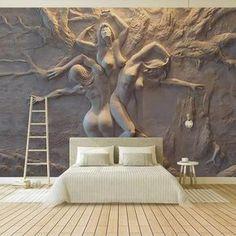 Custom Wallpaper, Photo Wallpaper, Wall Wallpaper, Wall Painting Living Room, Living Room Bedroom, Modern Bedroom, Living Rooms, Bedroom Murals, Bedroom Decor