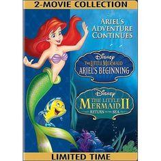 The Little Mermaid II: Return To The Sea / The Little Mermaid: Ariel's Beginning (Widescreen) - Walmart.com