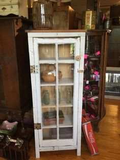 I love this cabinets made from Vintage Shabby Windows - Just take a great old window and build the cabinet around it!! This one is at Black & White Antiques in Blairsville, GA