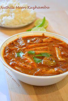 Tasty Appetite: Nethili Meen Kuzhambu / Anchovies Curry / Nethili Meen Curry: