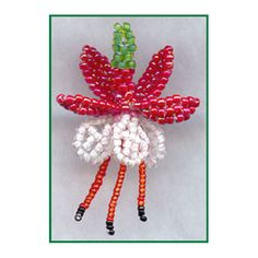 3D Beaded Fuchsia Pattern | Bead-Patterns.com