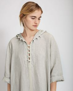 Women's Washed Linen Djellaba | Toast