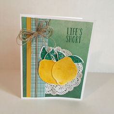 The Lemon Zest Stamp Set by Stampin' Up! Hello summer!