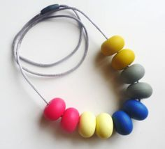 Silicone Teething Jewellery Bead Necklace FOR MUM Baby Nursing Breastfeeding | eBay