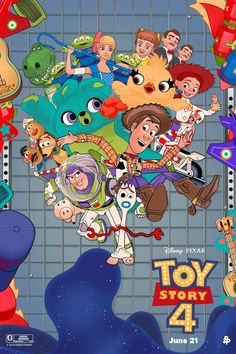 Toy Story 4 by Vincent Aseo - Home of the Alternative Movie Poster -AMP- Cartoon Wallpaper, Cute Disney Wallpaper, Wallpaper Iphone Disney, Disney Toys, Disney Art, Disney Pixar, Toy Story Movie, Toy Story Party, Desenho Toy Story