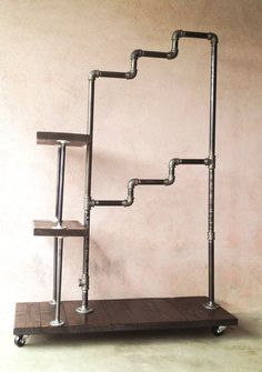 pallet wood metal pipe clothes rack - Google Search