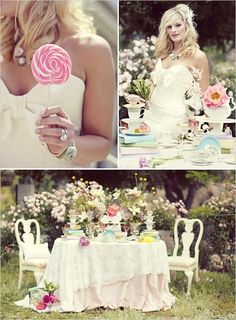 I LOVE tea parties!  tea party by TheCupcakeConfessions