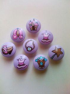 Lavender Princess Drawer Pulls  Set of 4 by CariBimbi on Etsy,