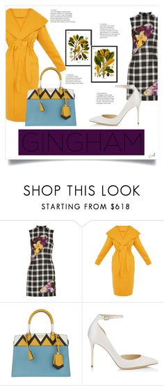 """Gingham (2)"" by andragabriela on Polyvore featuring Christopher Kane, Prada and Jimmy Choo"