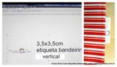 etiqueta vertical bandeirinha