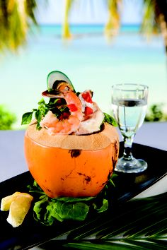 What's cooking in our islands kitchen today Coconut Shrimp salad Caribbean cuisine