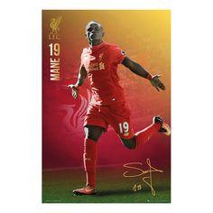 Liverpool FC Sadio Mane 2016 - 2017 Poster   iPosters