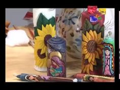 Girasoles - Velas talladas parte 3 - Talento artesano - YouTube Diy Candle Holders, Diy Candles, Carved Candles, Candle Craft, One Stroke Painting, Candle Making, Bowser, Hand Carved, Projects To Try