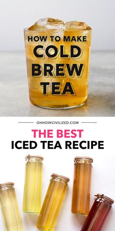 The secret to the perfect iced tea is to cold brew it. Step-by-step directions on how to cold brew tea at home that's simple and easy. How to make the best iced tea -- cold brew it! Best Iced Tea Recipe, Iced Tea Recipes, Coffee Recipes, Iced Black Tea Recipe, Vegan Tea Recipes, Herbal Iced Tea Recipe, Drink Recipes, Gluten Free Recipes, Kombucha