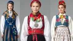 Bunad fra nord til sør (© Foto: Norsk Flid Lars Botten/Palookaville) Norwegian National costumes