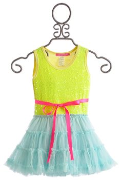 Le Pink Neon Electric Mermaid Tutu Dress $86.00