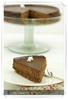 pastel de queso y chocolate