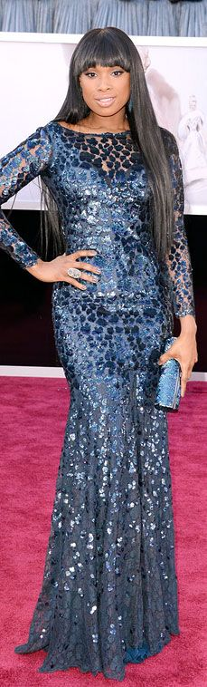 Jennifer Hudson at the 2013 Academy Awards - Roberto Cavalli