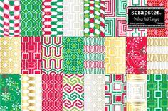 Mod Christmas Mix & Match. Christmas Patterns. $9.00