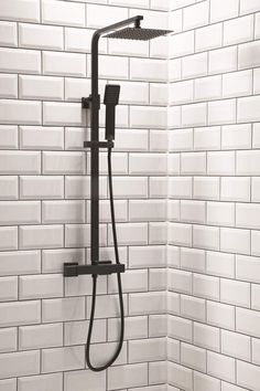Black Square Thermostatic Shower with Fixed Head and Diverter: Amazon.co.uk: DIY & Tools
