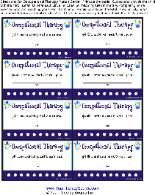 Punch Cards for Speech therapy! Repinned by SOS Inc. Resources.  Follow all our boards at http://Pinterest.com/sostherapy for therapy resources. Love this especially if your at a school. You can give random hole punched when you see kids speaking, sitting, walking writing, etc the correct way!
