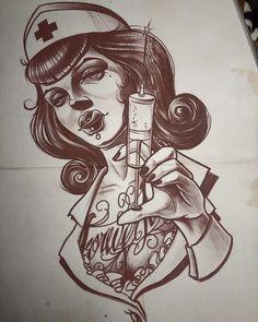 # -nurse #nursetattoo#neotraditionaltattoo #tattooistcrystal
