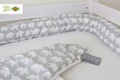 Lagerungshilfe+Bettschlange+Nestchen+Elefant+von+achwiegut+auf+DaWanda.com