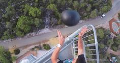 Watermelon Coated In Bedliner Spray Dropped From 150 Feet