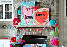 Serendipity Refined: Valentines Day Mantel (Easy Decorating}