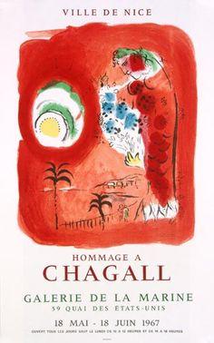 Marc Chagall - La sirene rouge (1967)